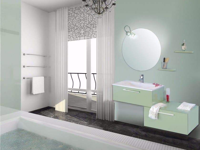 Mobile lavabo laccato con cassetti con specchio venere cm09v la bussola - Bagno la bussola ...