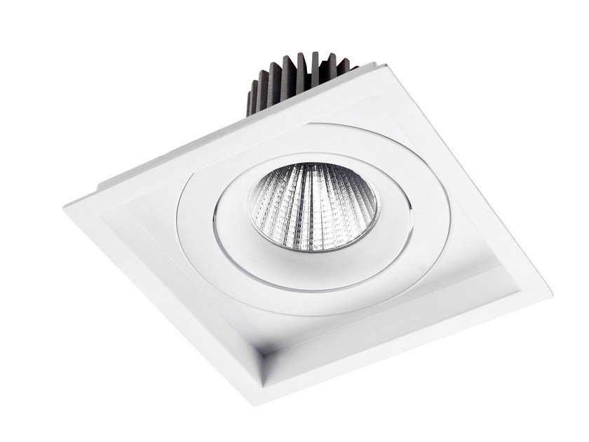 LED square recessed aluminium spotlight VENICE by LED BCN