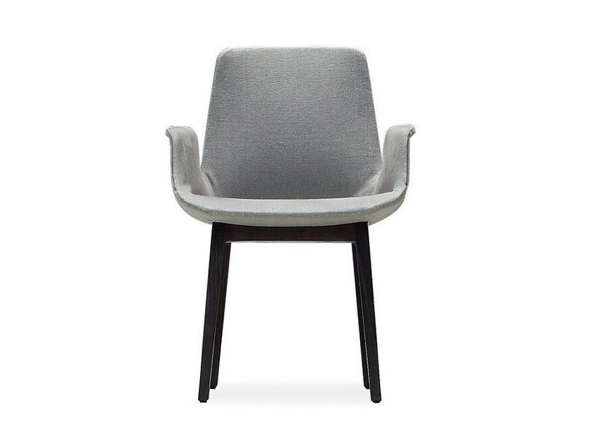 Fabric chair with armrests VENTURA | Chair with armrests - Poliform