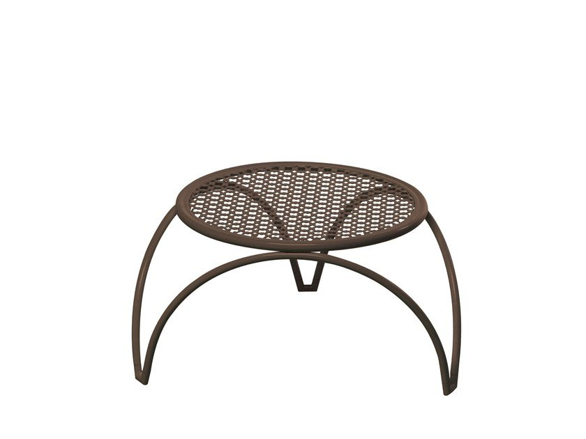 Low round steel garden side table VERA | Low coffee table - EMU Group S.p.A.