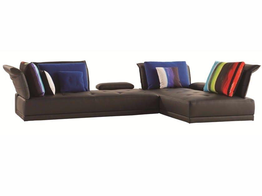 Sectional leather sofa VERBATIM - ROCHE BOBOIS