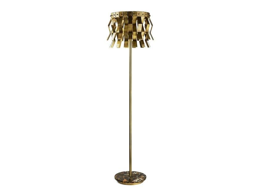 Lampada da terra a LED in ottone VERONICA | Lampada da terra - MARIONI