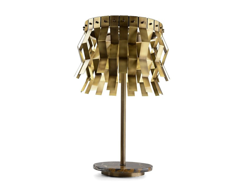 LED brass table lamp VERONICA | Table lamp - MARIONI
