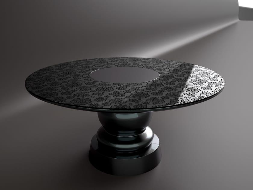 Round carbon table VERSAILLES | Round table - Sérénité Luxury Monaco
