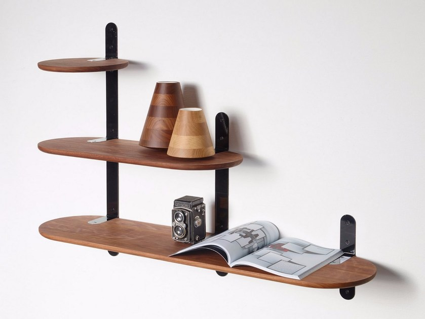 Wooden wall shelf VERTEBRAE by PER/USE
