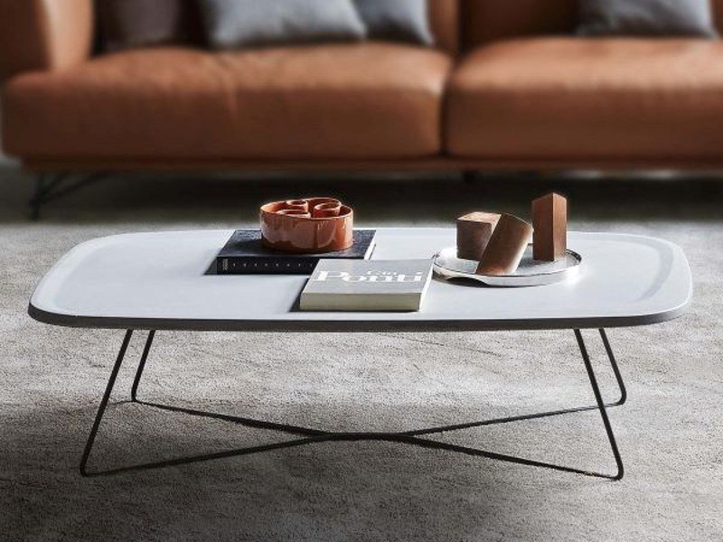 Low rectangular coffee table for living room VERVE | Coffee table - Ditre Italia