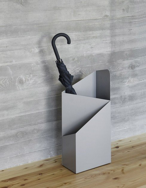 Powder coated steel umbrella stand VIA by MOX