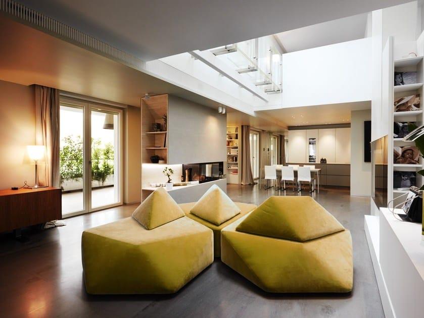Sectional velvet sofa VIBRIO © by GG-loop