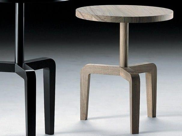 Tavolino rotondo in legno massello VIC | Tavolino in legno massello - FLEXFORM