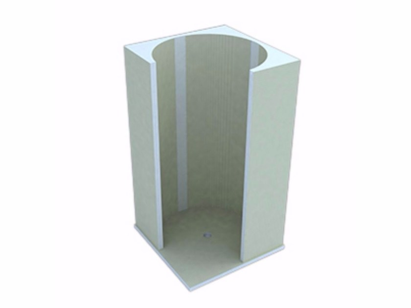 Modular polystyrene shower wall panel VICTORIA by Butech