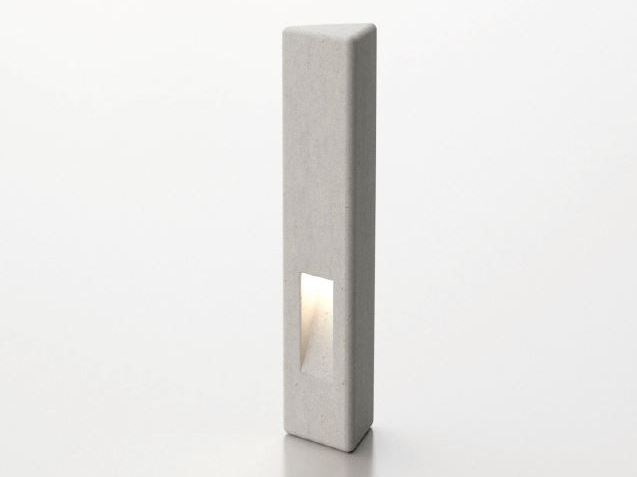 Bollard post with built-in light VIDA | Bollard with built-in light - SIT