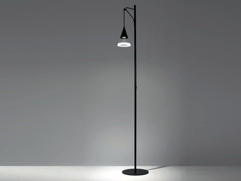 Lampada da terra a LED in vetro borosilicato VIGO | Lampada da terra by Artemide