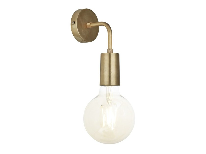 Brass wall lamp with fixed arm VINTAGE SLEEK   Brass wall lamp by Industville