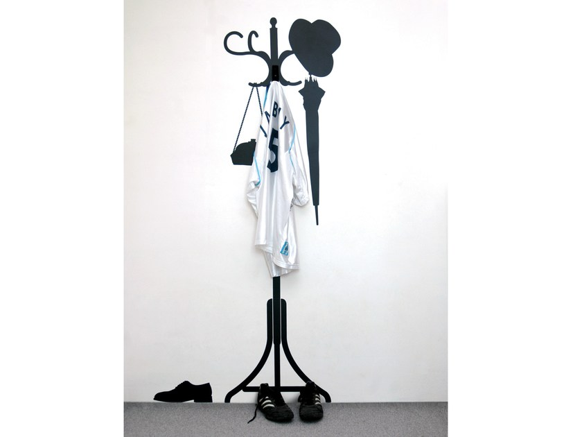 Coat rack / wall sticker VINYL + HANGER - Moustache