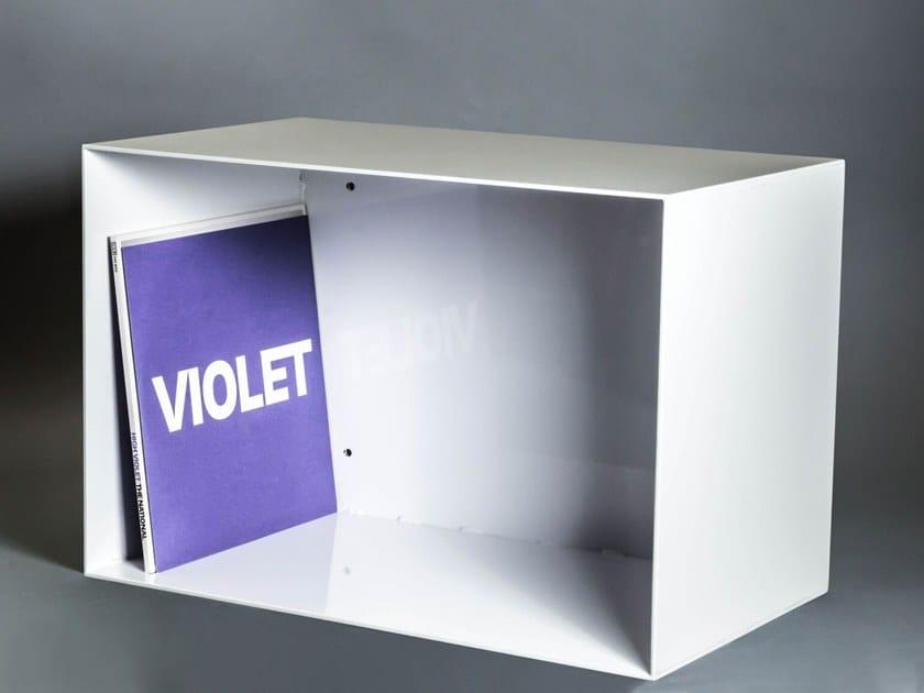 Scaffale per vinili in acciaio laccato vinylbox diadorn - Mobili per vinili ...