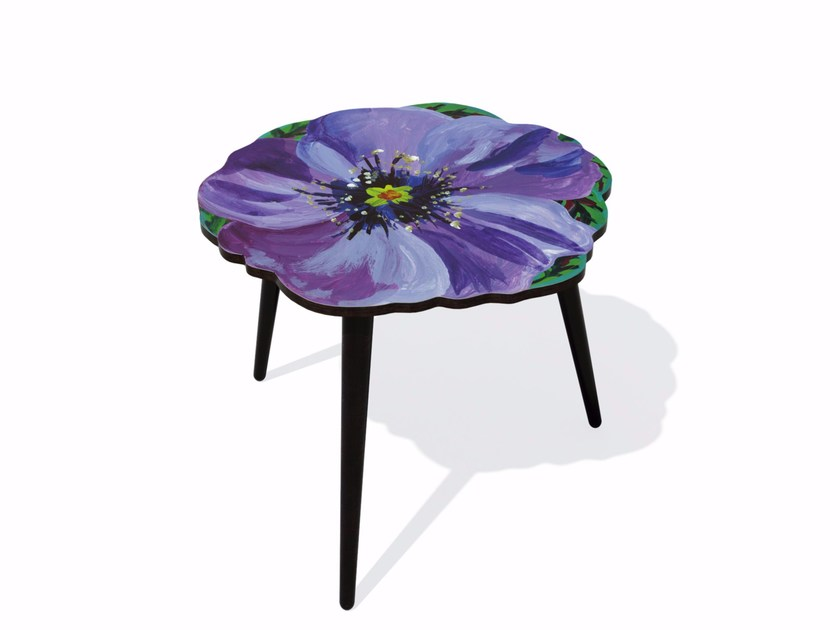 Beech wood and HPL side table VIOLETTE M - Bazartherapy