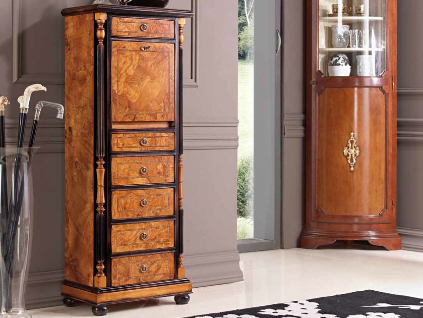 Free standing solid wood chest of drawers VIRGINIA - Arvestyle