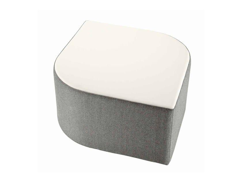 Upholstered fabric pouf Virgola 593 - Metalmobil