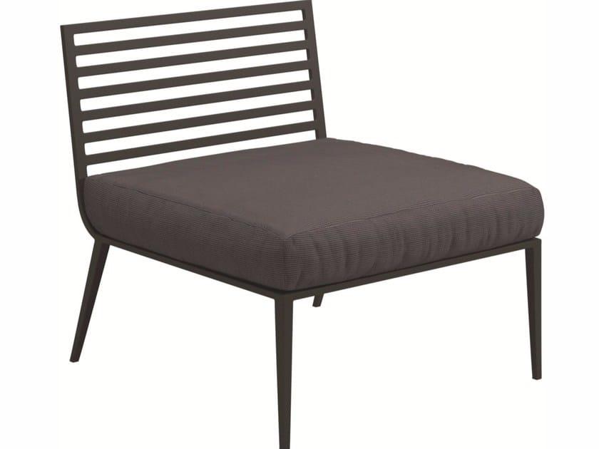 Upholstered garden armchair VISTA | Garden armchair - Gloster