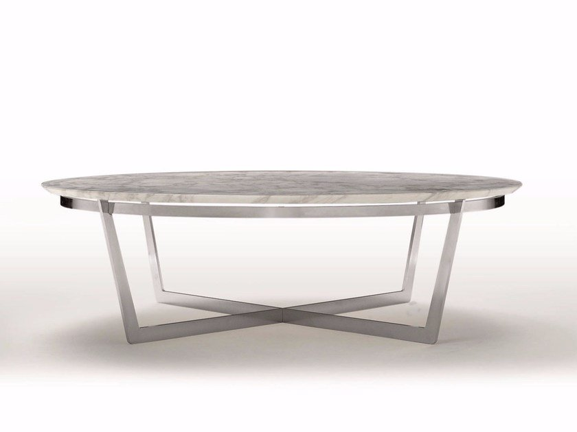 Round marble coffee table VITO by FLEXFORM