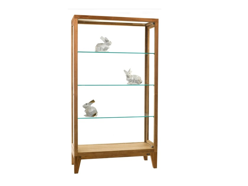 Wood and glass display cabinet VITRINE SMALL FEET - Pols Potten