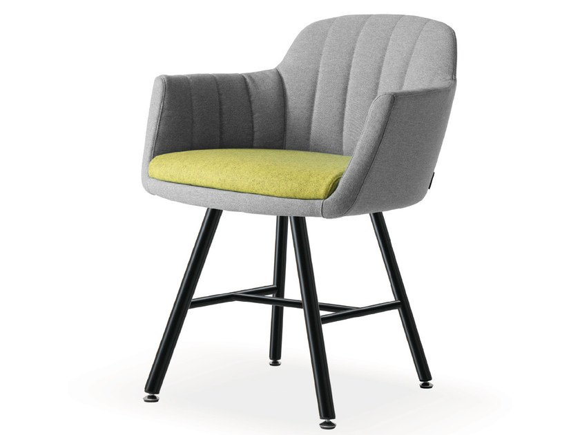 Fabric guest chair with armrests VITTORIA | Easy chair - Quinti Sedute