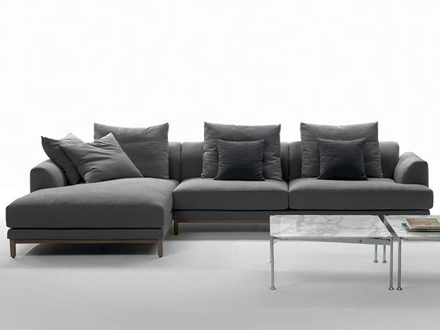 Fabric sofa with chaise longue VIVALDI | Sofa with chaise longue by Marac