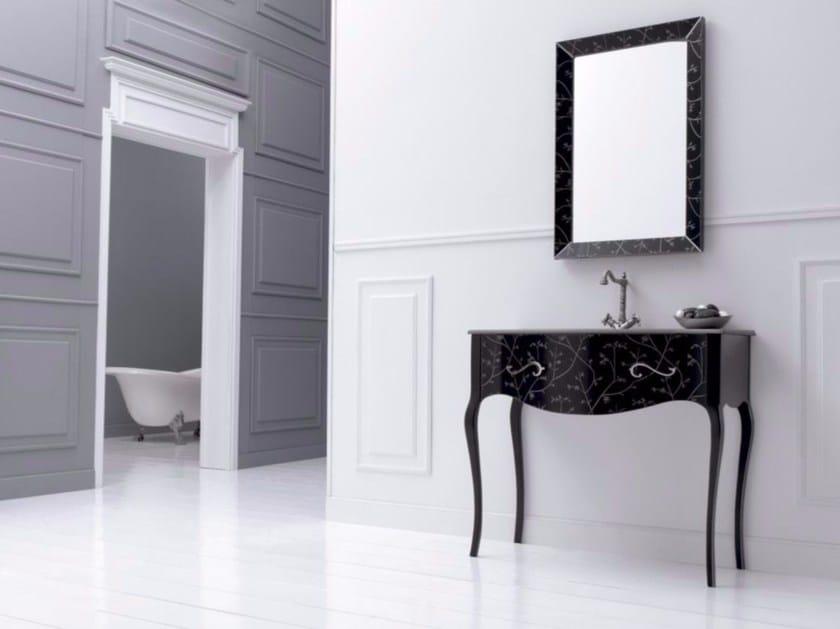 MDF vanity unit with drawers with mirror VIVALDI FLORES 01 - Fiora