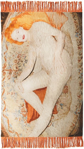 Handmade rectangular wool rug VIVIENNE WESTWOOD by HENZEL STUDIO