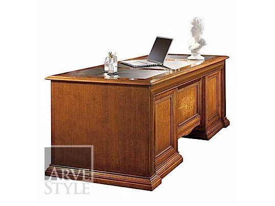 Solid wood executive desk VIVRE LUX | Writing desk - Arvestyle