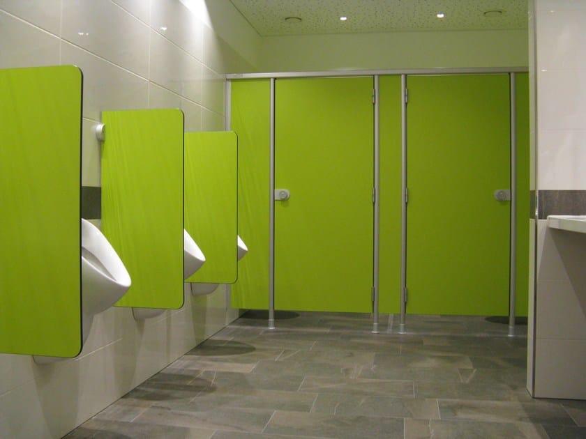 Parete divisoria per bagni in HPL VK13 By ERWIL