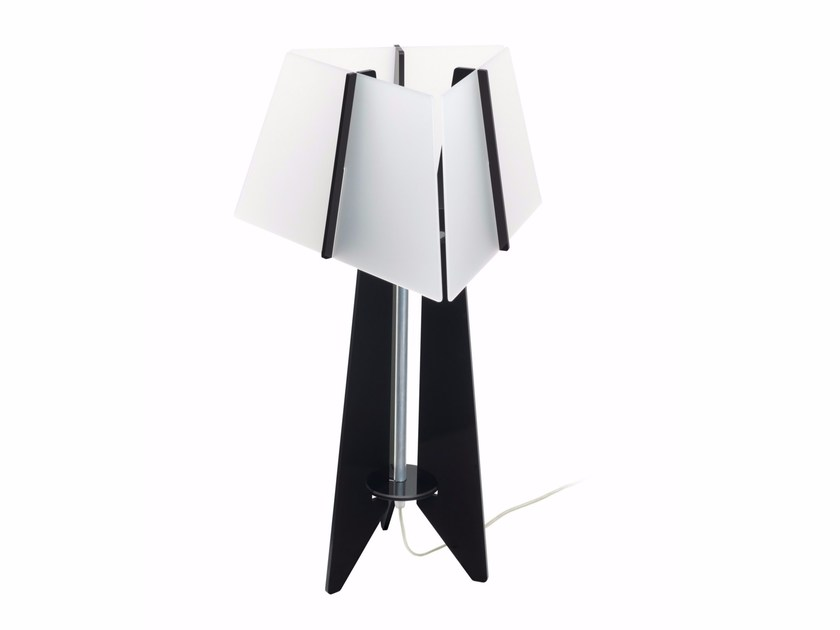 Acrylic table lamp VOGUE BW - ENVY