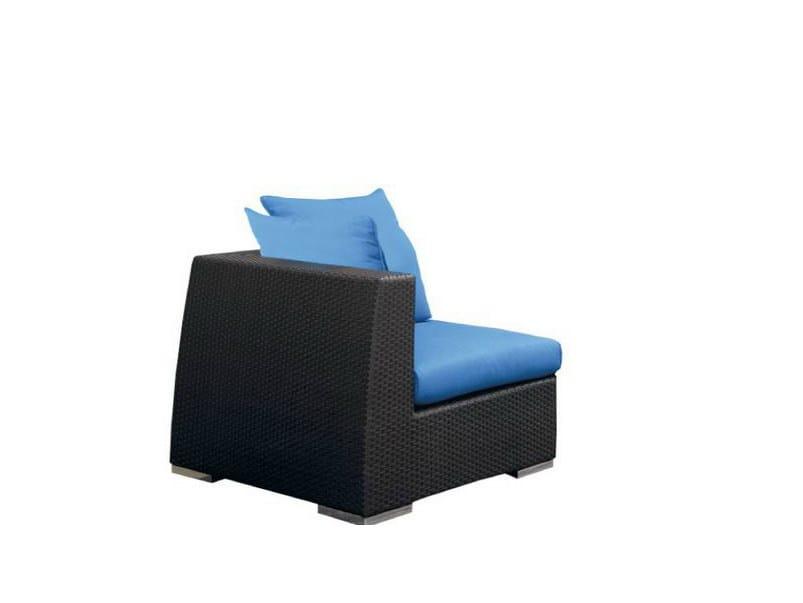 Corner upholstered garden armchair VOGUE | Corner garden armchair - Atmosphera