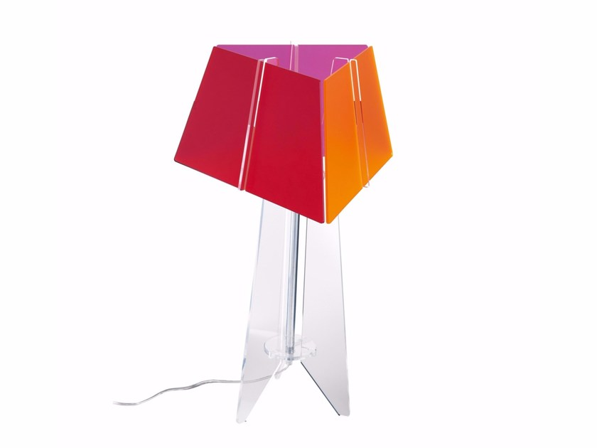 Acrylic table lamp VOGUE TR - ENVY