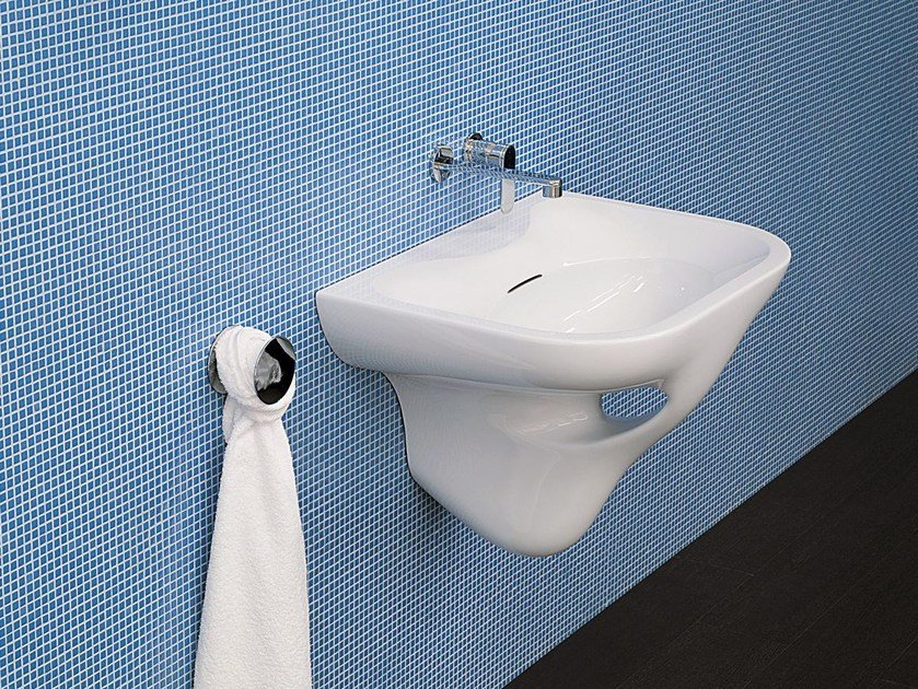 Wall-mounted ceramic washbasin VOID 70 - CERAMICA FLAMINIA