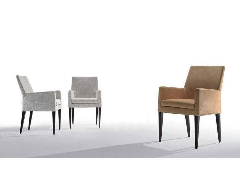 Fabric chair with armrests VOLO | Chair with armrests - Marac