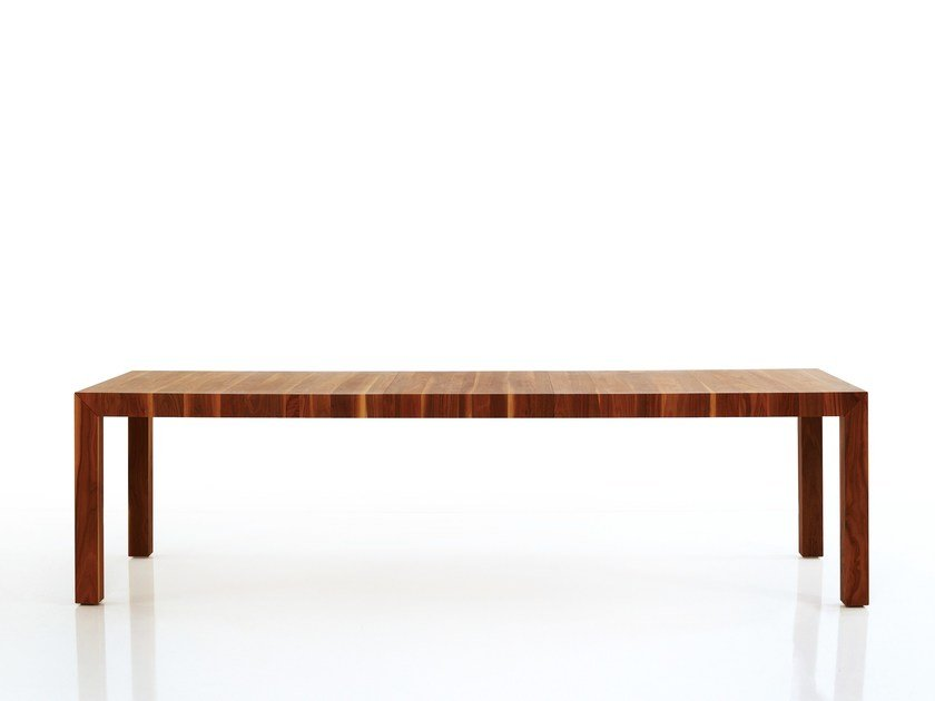 Rectangular wooden dining table VOLTA | Dining table by more