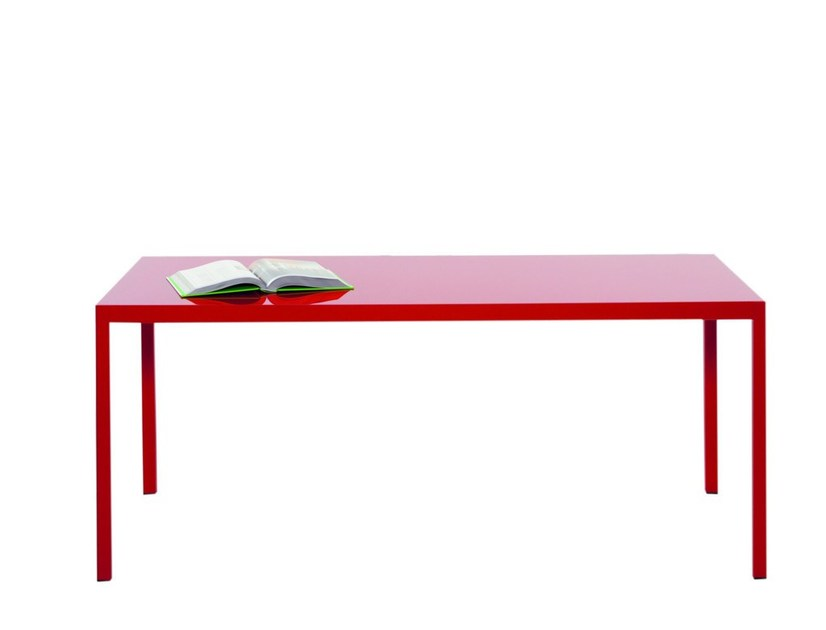 Lacquered rectangular table VOLTA | Rectangular table by IBEBI