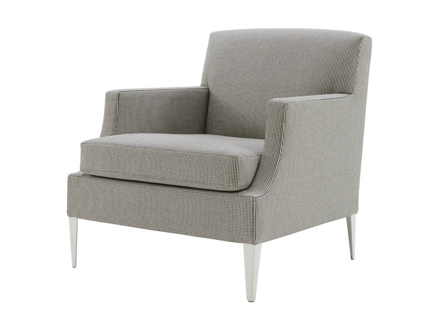 Bergere upholstered fabric armchair with armrests VOLTIGE - ROSET ITALIA