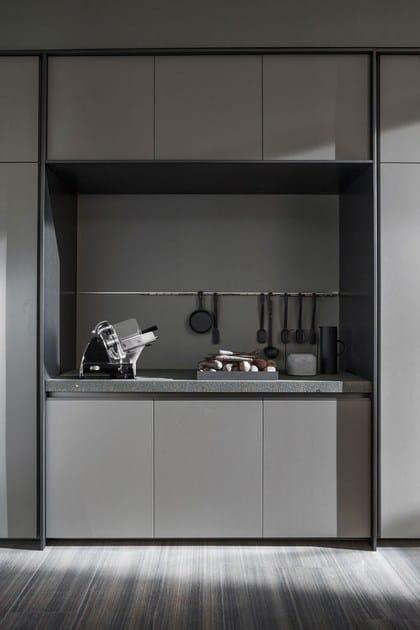 Cucina in legno con isola senza maniglie vvd cucina con - Cucina senza maniglie ...
