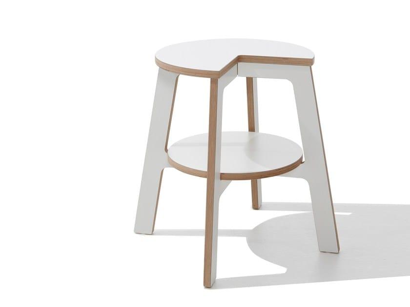 Low stool WALKER - Müller Möbelwerkstätten