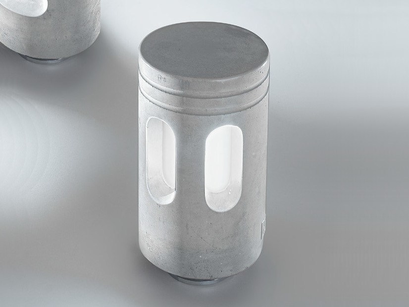 Garden cement bollard light WALKING | Cement bollard light - Aldo Bernardi