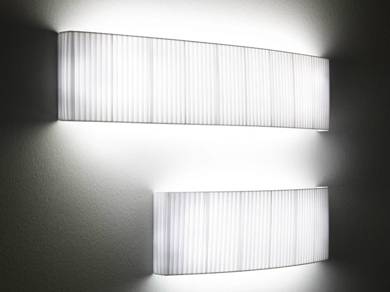 LED fabric wall light WALL STREET T5 - BOVER Il. Luminació & Mobiliario