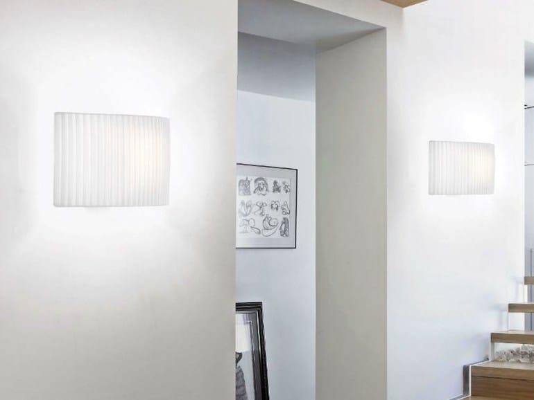 Fabric wall light WALL STREET - BOVER Il. Luminació & Mobiliario