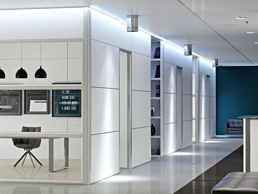 parete mobile in alluminio e vetro per ufficio wall system - arcadia - Pareti Vetrate Uffici