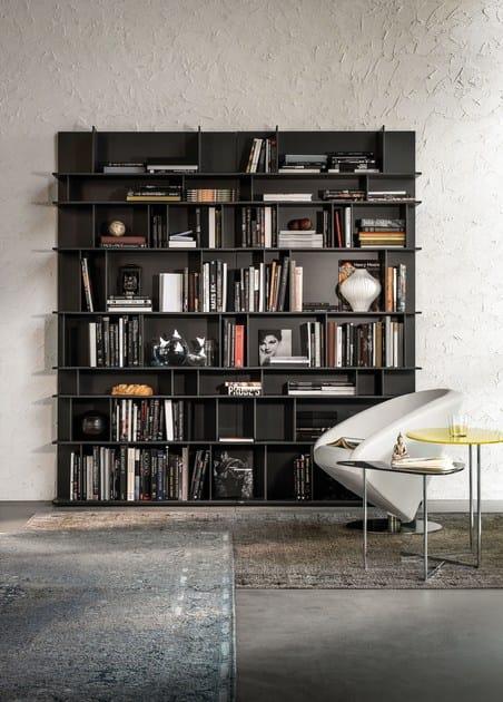 Libreria componibile laccata in mdf wally cattelan italia for Libreria velux