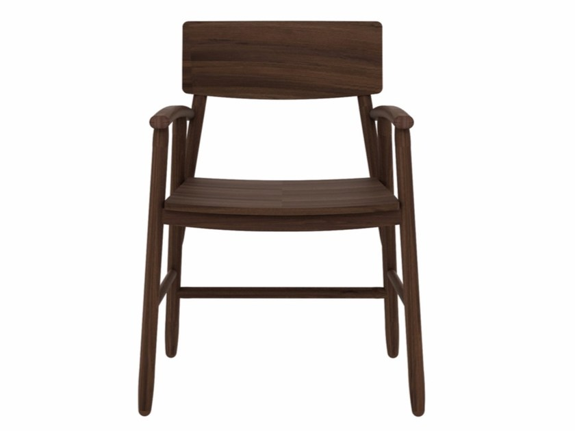 Walnut chair with armrests WALNUT BJORSING CHAIR - Ethnicraft