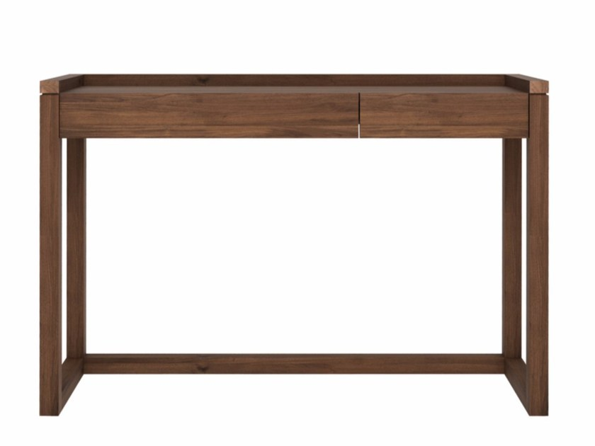Rectangular walnut writing desk with drawers WALNUT FRAME | Writing desk - Ethnicraft