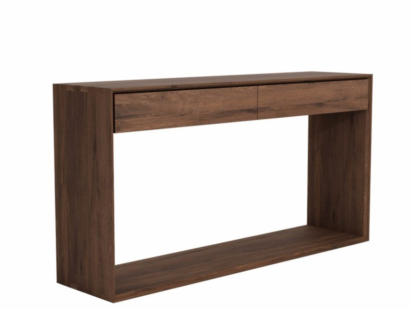 Rectangular walnut console table with drawers WALNUT NORDIC | Console table - Ethnicraft