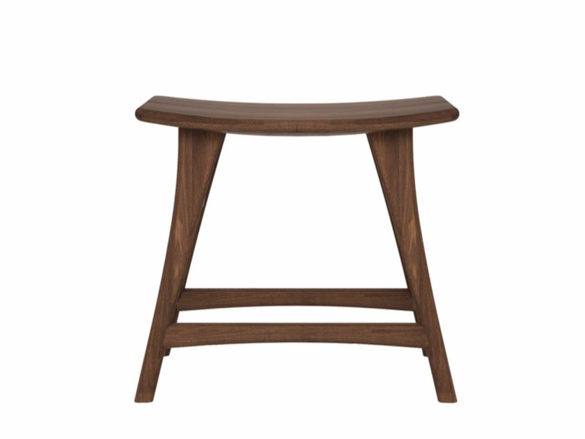Low walnut stool WALNUT OSSO | Low stool - Ethnicraft